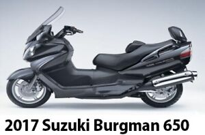 2017 Burgman 650 Suzuki Executive Like New 900 Kilometers