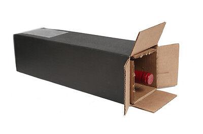 1 Bottle Black Wine Shipping Box Spiritedshipper Com Boxes Ups   Fedex Approved