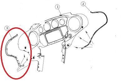 Inner Fairing Trim Seal For Harley-Davidson OEM Left 14+ Electra Street Glide