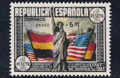 SPAIN 1938 U.S. Constitution Airmail Surcharged MNH Gummed Reproduction Stamp sv