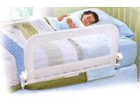White bed guard