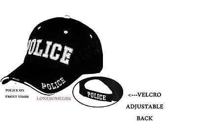 Deluxe POLICE Embroidered Adjustable Baseball Hat Ball Cap  BOXED Police Ball Cap