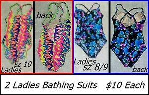 Bathing suits - ladies/teens medium  $10 each