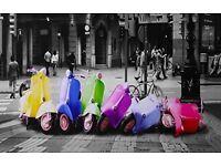 Vespa Bike Canvas Picture