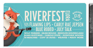 Two weekend passes To Riverfest elora