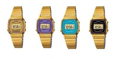 Casio LA670WGA Ladies Gold Stainless Steel Digital Classic Vintage Casual - Digital Stainless Steel Watch