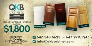 QKB CABINETS $1800 10x10 with installation  647 979 1245
