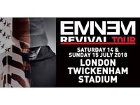 Eminem Revival Tour - 2 x Seated L 12 Row 20 - Twickenham Sunday 15th July 2018
