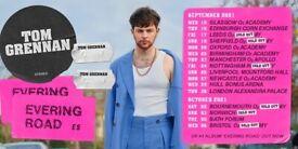 Tom Grennan standing tickets, Rock City Nottingham, Friday 24th September 2021