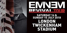 2x Eminem Tickets Twickenham Saturday 14th July