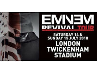 2x Eminem Tickets Twickenham Saturday 14th July