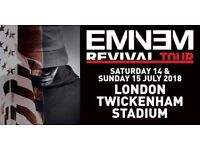 Eminem Standing Ticket for sale Sunday 15th July