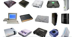Various game consoles (nintendo/Microsoft)