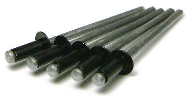 (Black All Aluminum POP Rivets - (4-4) 1/8