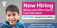 HIRING SCHOOL AGE CHILD CARE SUPERVISORS TODAY!