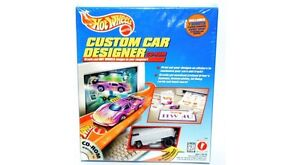 Hot Wheels Custom Car Designer CD-ROM Set White VW DRAG BUS