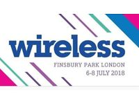 2 x Wireless Festival Tickets for 2018 - 3 day pass