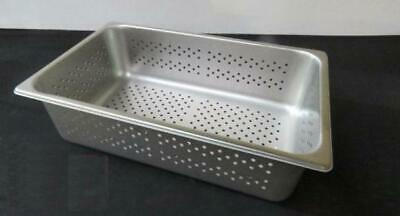 Stainless Steel Full Size 6 Deep Perforated Steam Table Pan Buffet Polar Ware