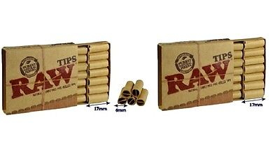 2 RAW PRE ROLLED TIPS Natural Prerolled for Cigarette Filter Rolling Paper NIB on Rummage