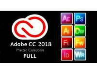 Adobe CC 2018 Photoshop illustrator premiere pro lightroom for Windows MacBook iMac