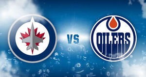 Oilers vs Jets - Center Ice Aisle Seats
