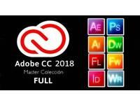 Adobe CC 2018 Photoshop illustrator premiere pro lightroom for Windows MacBook iMac