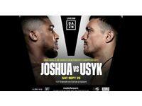 ANTHONY JOSHUA VS USYK x2 FLOOR TICKETS FV