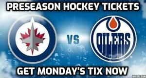 FINAL CALL✯✯ Edmonton Oilers vs. Winnipeg Jets✯✯ MON Sep 16