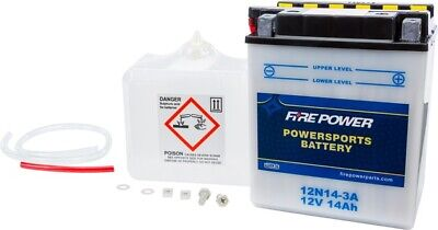 WPS Fire Power 12N14-3A Battery Yamaha/Kawasaki XS650/XS750/XS500/Z1 900/TX500