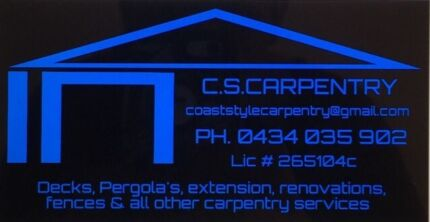 C.S CARPENTRY SERVICES Worrigee Nowra-Bomaderry Preview