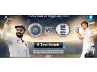 Oval Cricket Test Match Tickets