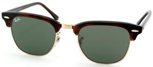 Ray-Ban-RB-3016-Clubmaster-W0366-Mock-Tortoise-Gold-Sunglasses-Green-51mm-Lens