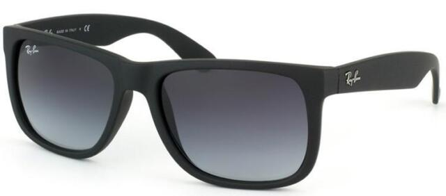 New Authentic Ray-Ban Authentic Sunglasses Justin RB 4165 601/8G 54mm Black Grey