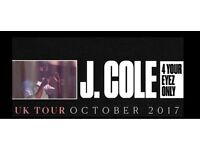 J. Cole - Standing Tickets - 14th October - Birmingham x4