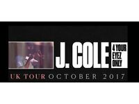 J. Cole - Standing Tickets - 16th October - The O2 - London (x4)