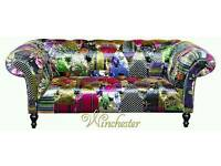 Patchwork two seater sofas x 2