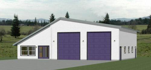 56x48 2 RV Garage - 2 Bedroom 1 Bath - 2,649 sq ft - PDF Floor Plan - Model 1H