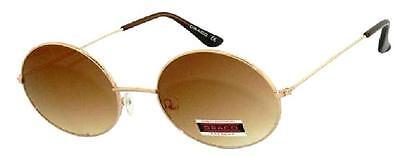 Sonnenbrille Oval  Gläser Braun 70er Jahre John Lennon Style Vintage Brille