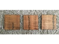 3 Wooden Pictures