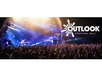 Outlook festival ticket and opening party ticket
