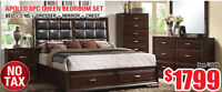 Apollo 8pc Queen Bedroom Set, $1799 Tax Included!
