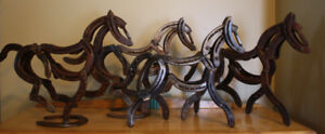 Horseshoe Horse Sculptures