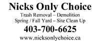 Nicks Only Choice Serving Strathmore, Calgary and Airdrie.