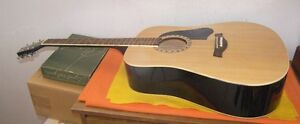 Large Acoustic Rock Guitar Steel String With Case