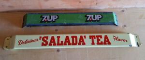 Original Salada Tea Porcelain Door Push Sign