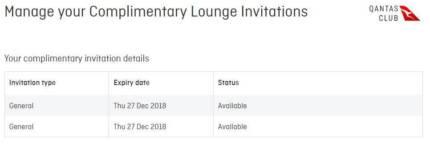 2 x QANTAS Club Lounge Passes
