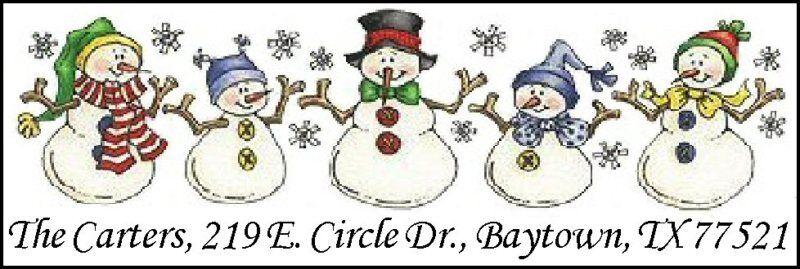 ~SNOWMAN FAMILY~  Return Address Labels!