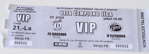 Ticket for collectors CL FC Daugava - IF Elfsborg 2013 Latvia Sweden - Internet, Polska - Ticket for collectors CL FC Daugava - IF Elfsborg 2013 Latvia Sweden - Internet, Polska