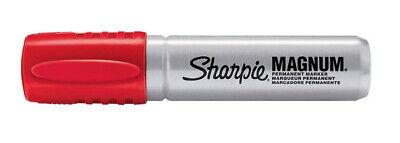Sharpie Magnum Oversized Permanent Marker Chisel Tip Red - 3 Pack