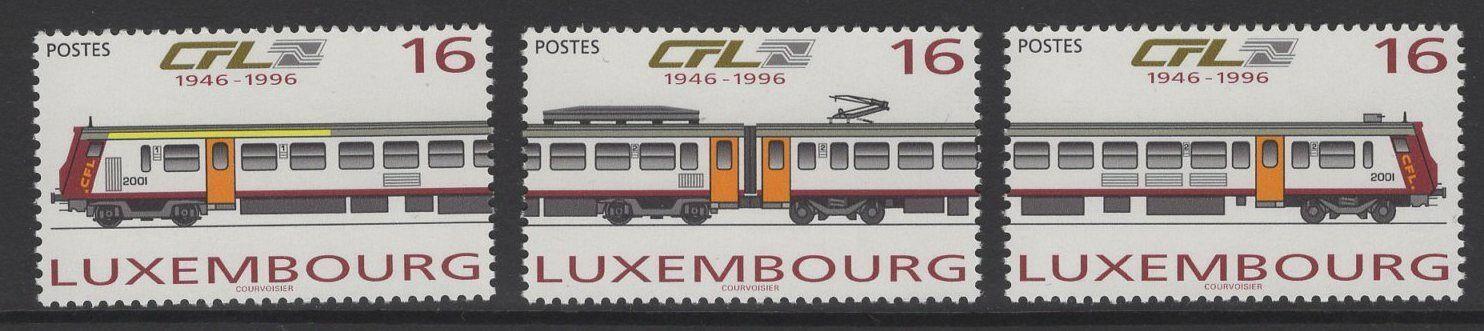 LUXEMBOURG SG1414/6 1996 NATIONAL RAILWAY COMPANY MNH